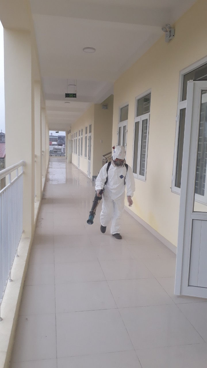 Khử trùng tại khu công nghiệp Phúc Điền